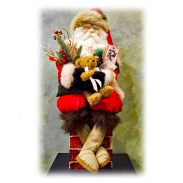 "Handcrafted Santa Claus ""A Visit From Saint Nicholas"""