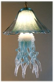 Jellyfish Hanging Chandelier Double Dome 10 Colors