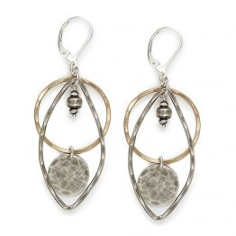 Mixed Stratum Leaf Earrings