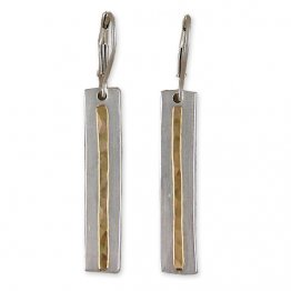 Sterling & 14kt Gold Filled Linear Earring