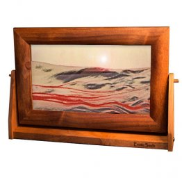 Moving Sand Pictures Large Red Volcanic Clear Alder Frame