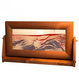 Moving Sand Pictures Red Volcanic Clear Medium