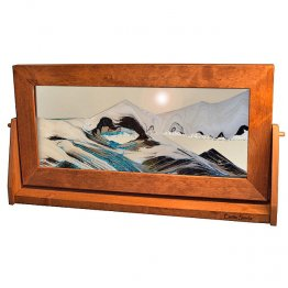 Moving Sand Art Picture XLarge Arctic Glacier Clear - Alder