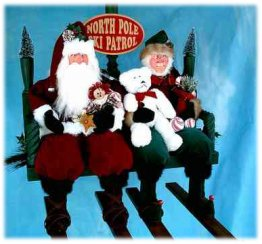North Pole Ski Patrol Santa's