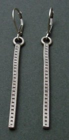 Sterling Long Drop Earring
