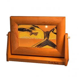 Cherry Wood Moving Sunset Orange Sand Pictures Sm.