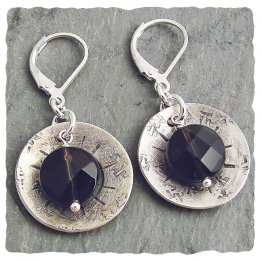 Smoky Quartz Sterling Silver Earring