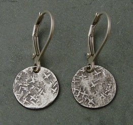 Sterling Silver Textured Disc Earring