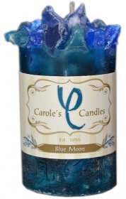 Blue Moon Chunk Candle