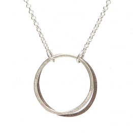 Sterling Silver Hollow Moon Necklace