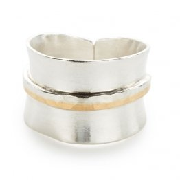 Sterling Silver w/ Gold Wrap Ring