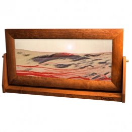 Moving Sand Art Pictures X-Large Red Volcanic Clear Alder Wood Frame