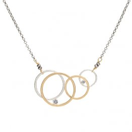 Cubic Zirconia and Circles Necklace