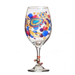 Crab Hand Painted Glassware