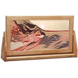 XX-Large Red Volcanic Clear Moving Sand Art Pictures
