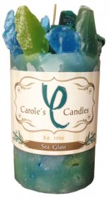 Sea Glass Candle Pillar