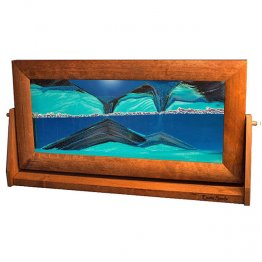 Sand Art Picture XLarge Ocean Blue Alder Wood