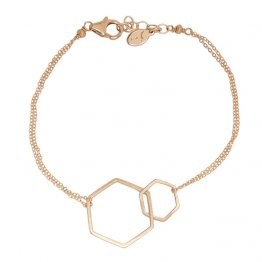 Two Linked 14k Gold Fill Hexagons Bracelet