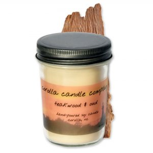 Teakwood and Oud  Hand Poured Soy Candle