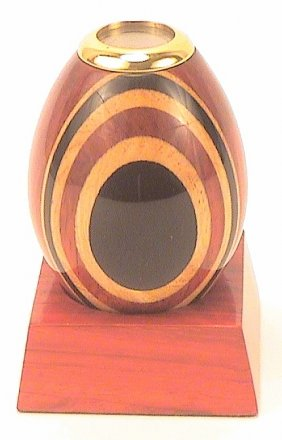 Wooden Kaleidoscope Egg w/Base 3""
