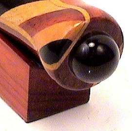 Wide Striped Wooden Teleidoscope 5 1/2