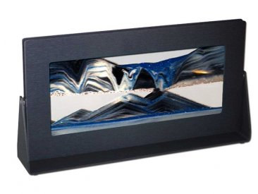 Black Rectangle Sand Art Pictures Arctic Glacier Clear