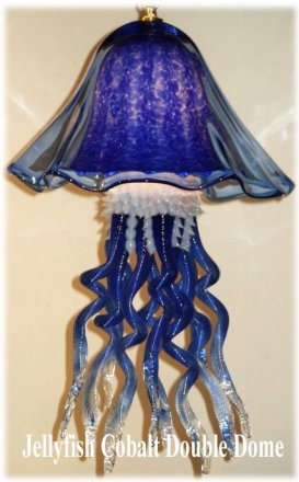 Jellyfish Chandelier Cobal Single Dome 10 Colors