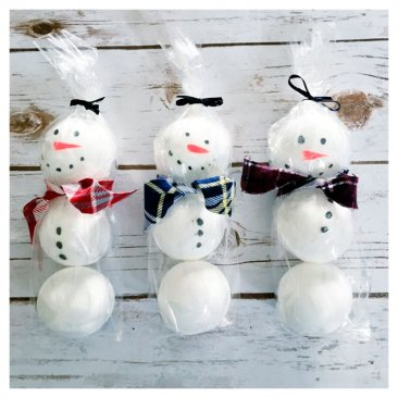 Cute Handmade Snowman Bath Fizzy Set