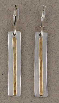 Sterling & 14kt Goldfilled Linear Earring