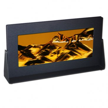 sand art in black anodized metal frame