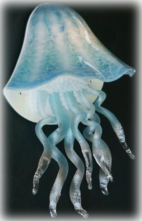 Jellyfish Wall Sconce Light in Aqua 10 Colors