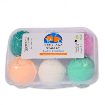 Natural Handmade Bath Bombs Fizzies (6 Pack)