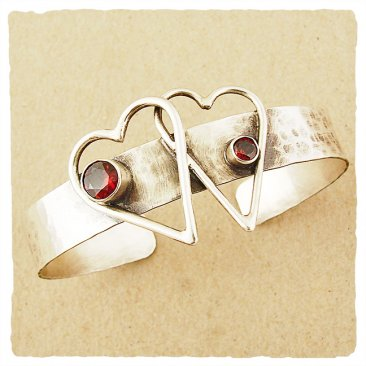 Crossed Hearts Cuff