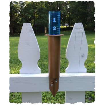 "Resin 8"" Deck World's Coolest Rain Gauge"
