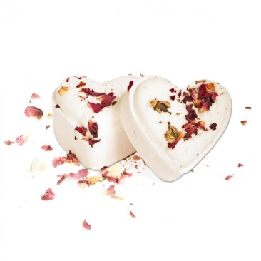 Organic Aromatherapy Rose Heart Bath Bombs