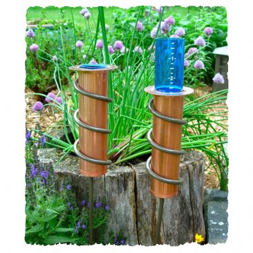 "24"" World's Coolest Rain Gauge Copper"