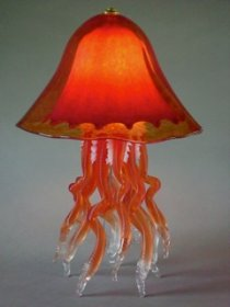 Jellyfish Table Lamp Red Double 10 Colors