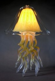 Jellyfish Table Lamp Citron Double 10 Colors