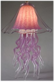 Jellyfish Double Dome Table Lamp Amethyst by Joel Bloomberg