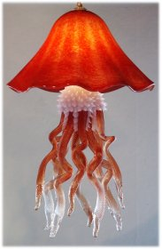 Jellyfish Chandelier Hanging Red Single-Dome 10 Colors