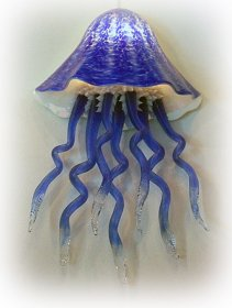 Jellyfish Wall Sconce Art Lighting in 10 Colors Hand Blown Glass