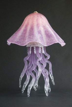 Jellyfish Table Lamp Single Dome Amethyst 10 Colors